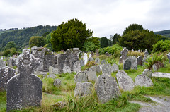 Old monastery Ruins (*~Dharmainfrisco~*) Tags: dharmainfrisco dharma wicklow glendalough ireland republic 2017 travel tour church monastery grave site graveyard mountains wild hills countryside country tower headstones water nature greenery glendalogh