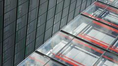Red Corner (Ed Sax) Tags: fassade glas rot schwarz weiss preussen edsax hamburg berlinertor polizeipräsidium ibm freeandhansatownofhamburg freieundhansestadthamburg