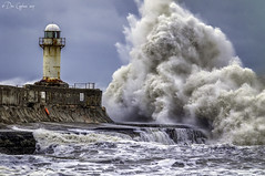 Troubled Waters. (Dave Cappleman) Tags: lighthouse wave storm southgare redcar winter sea power water wind