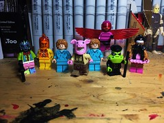 The Circus of Strange (Lord Allo) Tags: lego batman circus strange jackanapes phosphorous rex dollotrons professor pyg flamingo mister toad big top