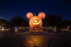 A Spooky Night on Main Street U.S.A. (orlandobrothas) Tags: disneyland mickeymouse pumpkin winkyblinky night stars townsquare halloween fall california anaheim nikond500 tamron disneyparks