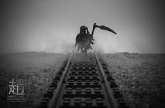 Reaper (mikechiu86) Tags: lego minifigure grimm reaper dark black smokey evil smoky halloween scary death railway track spooky