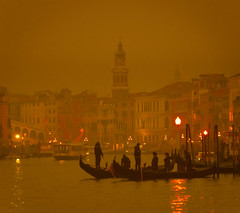 A Moody Venice In The Fog At Night (Stuck in Customs) Tags: italy stuckincustoms treyratcliff venice sonya7r2 sony sonya7rii stuckincustomscom sunset dusk horizontal colour color daily dailyphoto rr hdr hdrphotography hdrphoto outside outdoor outdoors canal grandcanal waterway gondola workshop pink purple red orange blue bridge boats buildings houses street 2016 architecture arch water city skyline sea