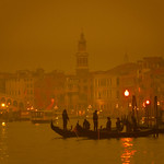 A Moody Venice In The Fog At Night thumbnail