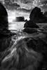 Moody Light (Chris Williams Exploration Photography _) Tags: rubybeach olympicnationalpark seascape nationalpark olympics washington pacificnorthwest blackandwhite monochrome seastack moody chriswilliams