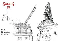 Lisbonne, praça de Camoès (gerard michel) Tags: portugal lisbon place sketch croquis