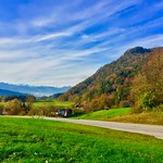 Autumn landscape with The Alps in Tyrol, Austria thumbnail
