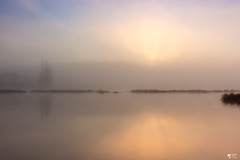 ''Dream day!'' (pascaleforest) Tags: surise mist brume passion nikon landscape paysage eau water rayons soleil sun forest forêt levédusoleil lac lack automne fall kayak québec canana calme zen sky ciel