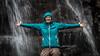 Waterfall (#Weybridge Photographer) Tags: canon slr dslr eos 5d mk ii nepal kathmandu asia mkii everest trek himalaya himalayas waterfall trekker woman lady girl female