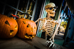Halloween on 8th Street (Sky Noir) Tags: halloween allhalloween all hallows eve saints celebration 31 october rva richmond virginia skeleton pumpkins