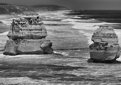 Which Apostle would you follow? (gabrielfiuza) Tags: australia nature sea ocean wave seascape landscape blackwhite blackandwhite travel trip rock sky