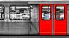 the train (j.p.yef) Tags: peterfey jpyef yef subway underground ubahn germany hamburg traffic selectivecolor bwandred monochromeandred elitegalleryaoi bestcapturesaoi aoi