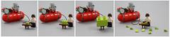 Pump up the LEGO... (AzureBrick) Tags: lego air compressor modulex system duplo inflation brick