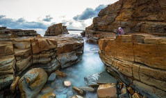 Cadillac Canyon, San Remo, Victoria, Australia (Chas56) Tags: ngc rock rocks water ocean sea tide waves landscape seascape rockformation canon canon5dmkiii longexposure le nd ndfilter photographer nature australia geology