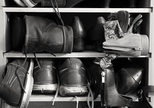 #FlickrFriday #DogMe95 #b&w #shoes