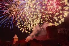 Firework near Smolensk fortress wall (fandango206) Tags: smolensk night nightphotography landscape firework