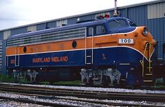 F7 100 (DJ Witty) Tags: emd dieselelectric freight locomotive unionbridge maryland usa f7 marylandmidland
