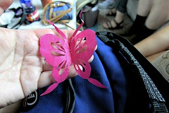 Butterfly Paper Folding (oxfordblues84) Tags: xian xianchina china peoplesrepublicofchina oat overseasadventuretravel dayinthelife donghanvillage butterfly pinkbutterfly paperfolding origami