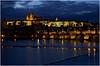 Pražský hrad a Karlův most (Praha) (Dobromir Dimov) Tags: praha prague czech architecture pražskýhrad karlůvmost praguecastle karluvbridge most bridge castle palace bluehour river vltava hrad