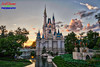 Castle of the Month (Scottwdw) Tags: aurora cinderellacastle clouds dusk fantasyland florida hdr magickingdom moat orlando sky skylum sunset travel vacation waltdisneyworld water nikon d750 nikon1635mmf4vr wide angle uwa landscape