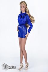 Bright Blue Look from Natalia Brazen Beauty (elenpriv) Tags: natalia brazen beauty 12inch fashion doll fashionroyalty integrity toys jason wu blue bright tender collection elenpriv elena peredreeva handmade mini skirt blouse