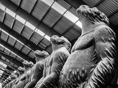 Gorillaz (Florian.Brandt) Tags: nordart 2017 gorillas kunst skulptur art carlshütte bw schwarzweis