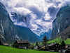 Lauterbrunnen - surrounded by mountains (david_stanfield.perth) Tags: switzerland lauterbrunnen valley mountain waterfall