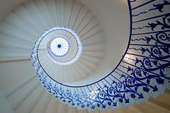 Tulip Staircase Greenwich (Bernhard Sitzwohl) Tags: spiral staircase queenshouse london uk inigojones greenwich monument stair tulip ornament helicalstair