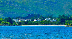 Scotland West Highlands Argyll houses on the beach at Port Righ 16 July 2017 by Anne MacKay (Anne MacKay images of interest & wonder) Tags: scotland west highlands argyll house houses coast beach village port righ landscape xs1 16 july 2017 picture by anne mackay