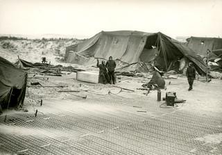 Vlieland - Cavalerie Schiet Kamp - 1962 - stormschade