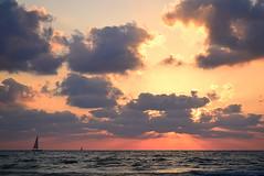 """Take The long Way Home..."" (Roi.C) Tags: cloud clouds sun sunset water waves sea landscape seascape nature outdoor season winter nikkor nikon nikond5300 boat yachts boats han sky skyline beach mediterraneansea sunrise wave cloudscape"