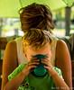 50 shades of green (wardkeijzer_107) Tags: hair child mom drink milk green nikon light portret lichtval groen haar