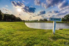 No Swimming (aliabdullah.176) Tags: lake mason ohio landscape wideangle 1018mm hdr sky clouds green blue no swimming united states usa