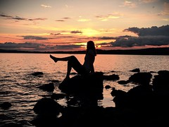 Every sunset is a chance to reset 🌅 (staceygallagher2) Tags: water sky silhouette beach sunset photoshoot bestfriend photography