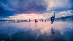 Entre Ciel et Terre (YᗩSᗰIᘉᗴ HᗴᘉS +8 500 000 thx❀) Tags: bordeaux aquitaine gironde france water sky clouds landscape waterumbrella parapluie hensyasmine