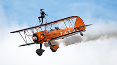 SE-BOG - Boeing PT-17 Kaydet - BQH (Seán Noel O'Connell) Tags: breitlingwingwalkers sebog boeing pt17 kaydet stearman biplane festivalofflight2017 bqh egkb bigginhillairport