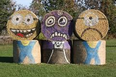 Hay Bale Characters (Craigford) Tags: stratford pei canada hay bales characters fall autumn