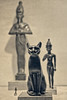 Four Figures (macplatti) Tags: museum monochrome egyptian history ancienttimes culture cat katze figuren statuen newyork usa