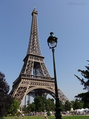 The Eiffel Tower seen from Champ de Mars
