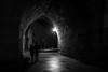 """Two"" is always company / night birds (Özgür Gürgey) Tags: 2017 35mm bw d750 darkcity eminönü nikon samyang yenicamii architecture lowlight night silhouette stones street tunnel istanbul"