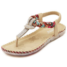 167fe9d81d4f US Size 5-10 Women Summer Bohemian Beach Soft Comfortable Casual Fashion  Flat Sandals Shoes