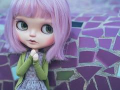 Amethyst (KeiuDolls) Tags: blythe keiudolls ooak custom les jeunette simply lilac scalp