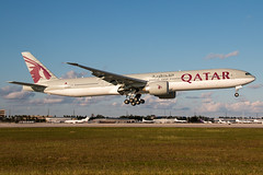 A7-BAO Qatar Airways 777-300 (Centreline Photography) Tags: airport runway plane planes aeroplane aircraft planespotting canon aviation flug flughafen airliner airliners spotting spotters airplanes airplane flight centrelinephotography chrishall aviationphotography miamiairport miami mia kmia usa florida