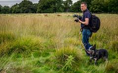 20170920-DSCF2416 Deer Encounter (susi luard 2012) Tags: esslinger rupert tw10 deer dog london park people photographer richmond uk