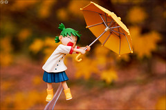 Yellow hurricane (gwennan) Tags: yellow autumn toy pvc jfigure japan figures figure cute anime closeup colors color macro koiwai yotsuba koiwaiyotsuba charaani toysworks
