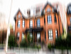 The Orange House (HWW) (13skies) Tags: hww blurred layermask noticm photoshop elements elements15 effect happywindowwednesday windows hamiltonon abstract