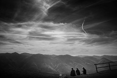 picnic (Chrisnaton) Tags: picnic ticino switzerland mountains alpine blackandwhite eveningmood viewpoint landscape cardada