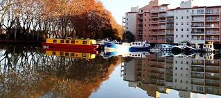 Reflets de tonnerre en automne à Ramonville, France