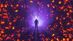Purp. (FadeToBlackLP) Tags: lightart bokeh fibers lightpainting longexposure tunnel underground