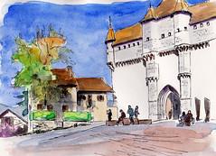 57ème ww SKCL Annecy (m.JaKar) Tags: annecy aquarelle croquis carnetdevoyage château dessinurbain france hautesavoie insitu sketchcrawl usk urbansketchers
